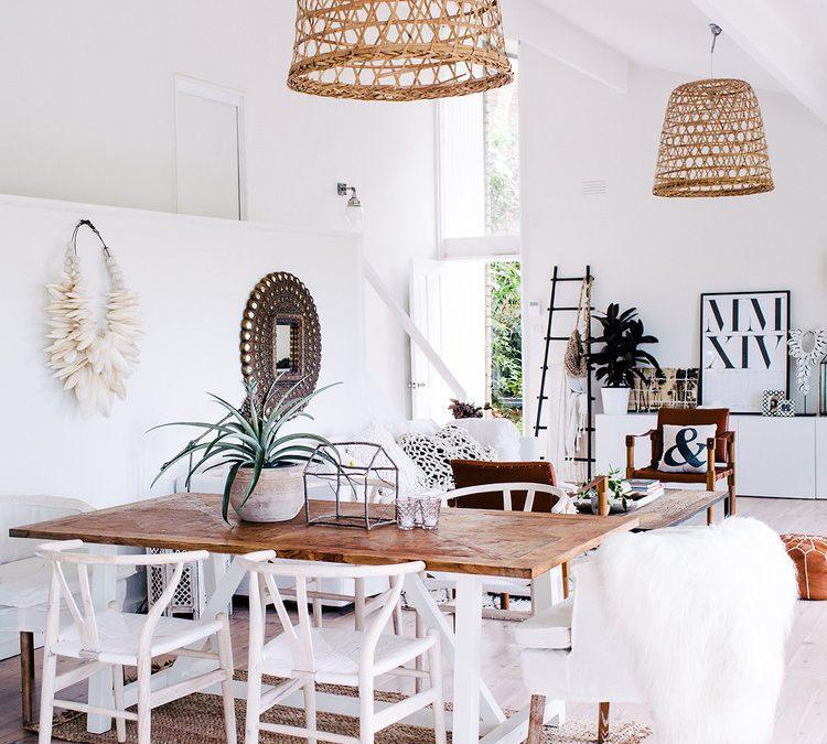 Decoración con fibra natural en el hogar